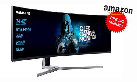 Tan bestial como su rebaja. El monitor gaming curvo de 49 pulgadas Samsung C49HG90DMU está a su precio más bajo hasta la fecha en Amazon: 699 euros