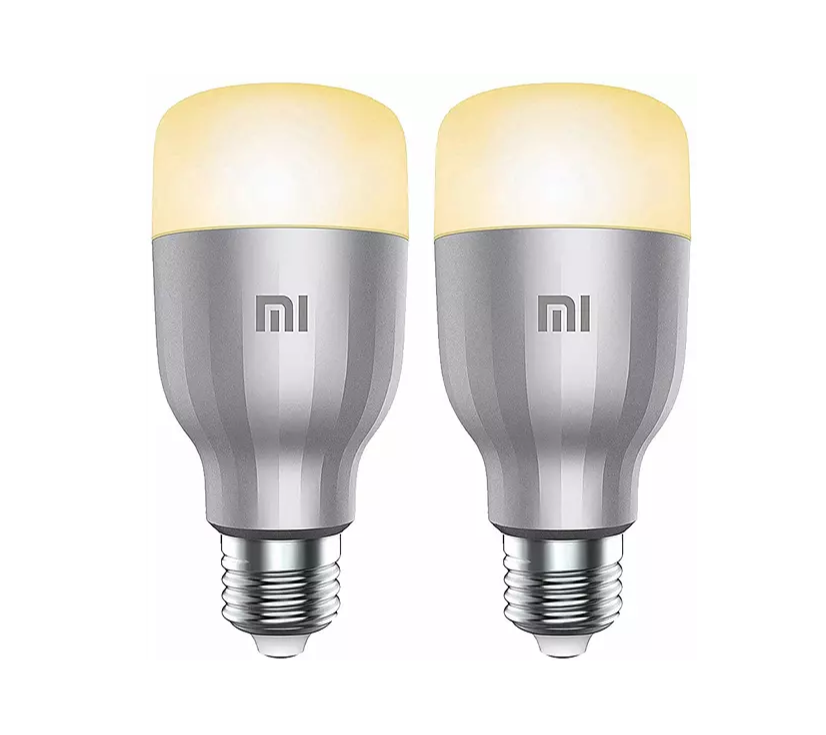Bombilla - Xiaomi LED Smart Bulb, Pack de 2, 4000K, 800 lm, Blanco y color