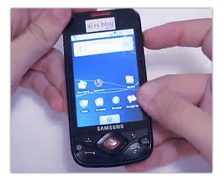 Samsung i5700 Galaxy Spica se deja ver en vídeo