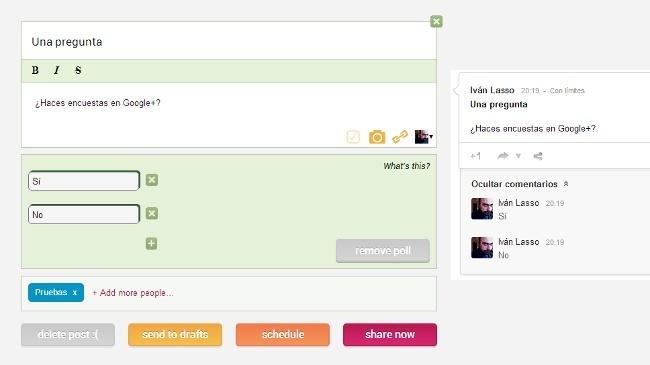 Crea rápidamente encuestas en Google+ desde Chrome con Do Share