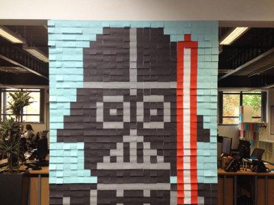 ¿Para que sirven 3.597 notas adhesivas en una oficina?