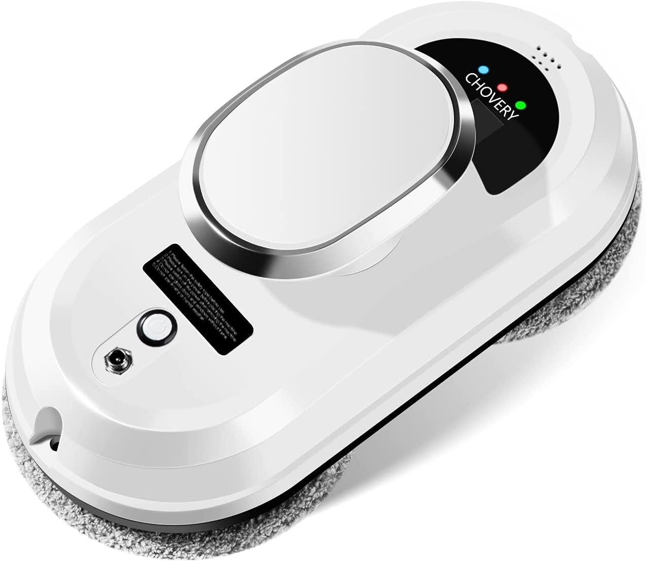 CHOVERY CL-1 Robot Limpiacristales, Control Remoto Limpiacristales Electrico,Sistema Inteligente de Detección de Bordes,Limpiacristales Magnetico