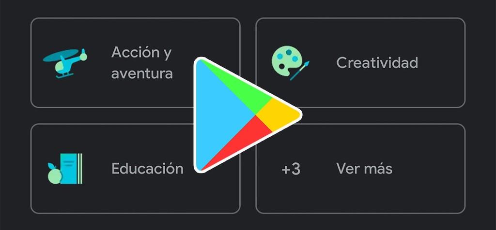 Google refresca el esquema de Play Store con un mas reciente esquema para las categorías