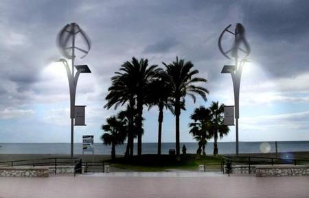 Farolas eólicas Málaga