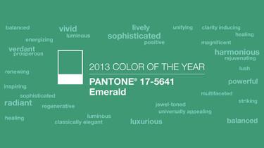 El color de 2013, según Pantone, es el verde esmeralda