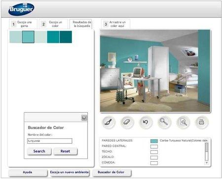 Simulador de ambientes de bruguer for Programa para combinar colores