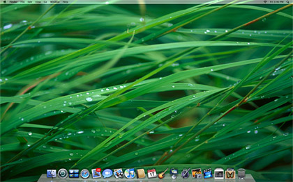 El fondo de escritorio de Mac OS X Leopard