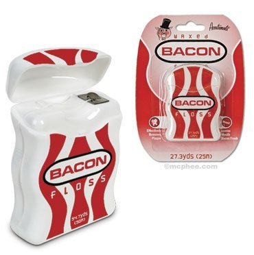 Hilo dental con sabor a bacon
