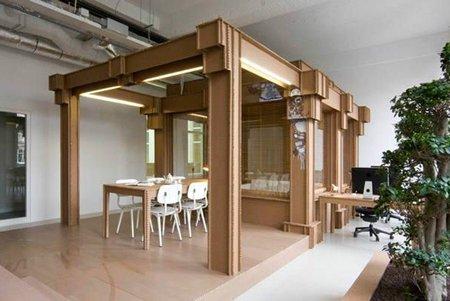 Oficina de cartón - espacio principal