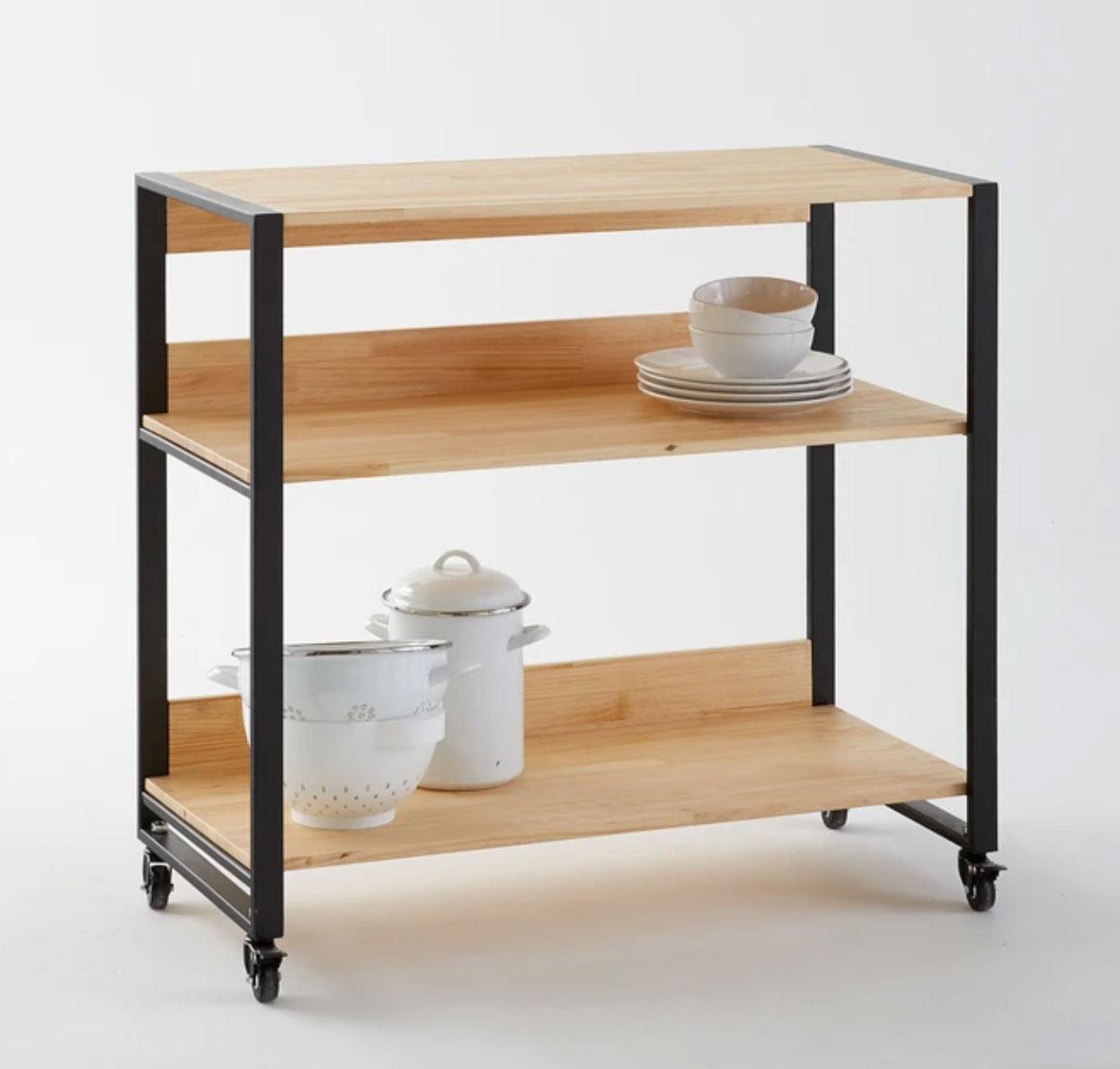 Mueble camarera con ruedas, Hiba. Medidad Totales:  •  Ancho 94 cm  •  Profundidad 43 cm  •  Altura 89 cm