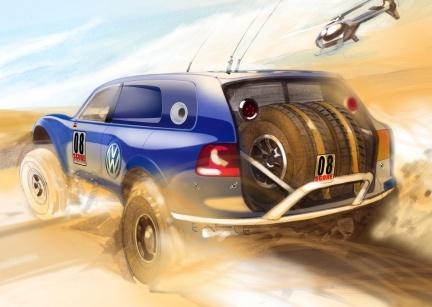 Un VW Touareg pata negra para la Baja 1000