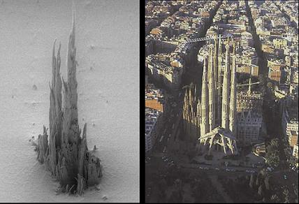 Sagrada Familia microscópica