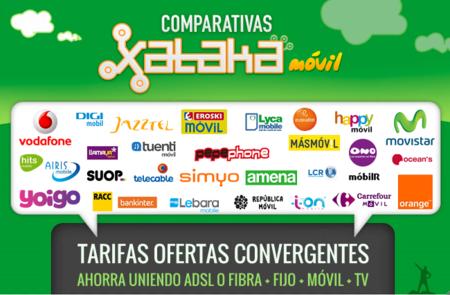Comparativa ofertas convergentes o cómo ahorrar uniendo fijo + ADSL o  fibra + móvil + televisión