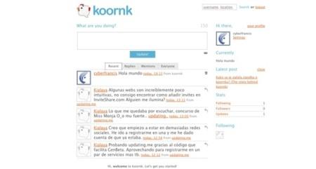 Koornk, un clon de Twitter con algunas opciones interesantes