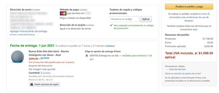 Echo Dot cuarta generación don descuento en Amazon México por Hot Sale 2021