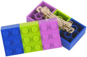 Horquillas con forma de piezas de Lego
