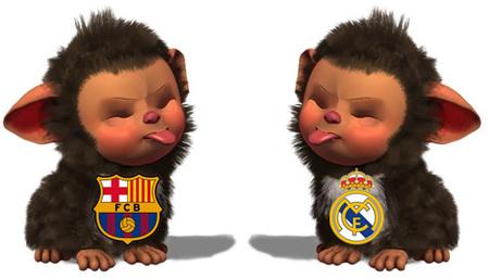 Los 'EyePet' del Barça y del Madrid cantan sus respectivos himnos