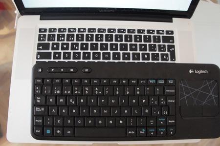 Comparando el K400 con el teclado del MacBook Pro de 15 pulgadas