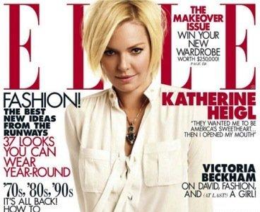 Katherine Heigl, inaugura el año en Elle como un pan sin sal