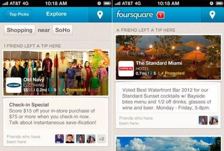 """Foursquare se anima con su propia versión de los """"Tweets patrocinados"""""""
