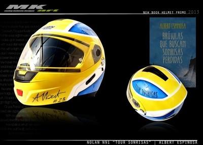 Nolan N91 'Tour Sonrisas', el casco basado en la última novela de Albert Espinosa