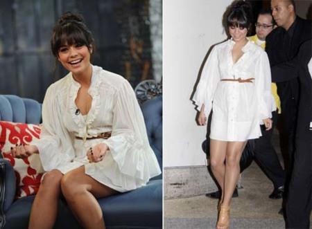 Vanessa Hudgens elige el blanco puro para su vestido veraniego