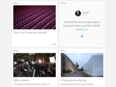 Apple se pone social en su web en anticipación al evento #ApplesferaKeynote9S