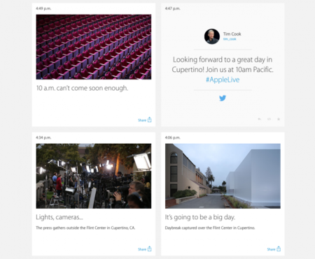 Apple se pone social en su web en anticipación al evento #ApplesferaKeynote9S