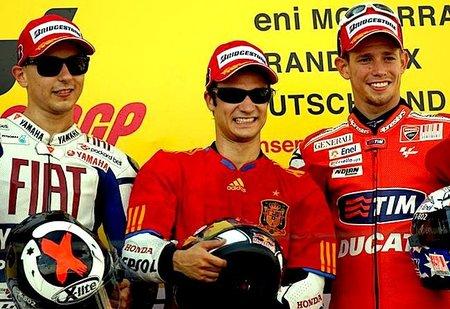 MotoGP Alemania 2010: Y fue Dani Pedrosa quien se puso la roja...