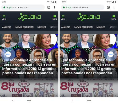 Navegacion Gestos Chrome Android