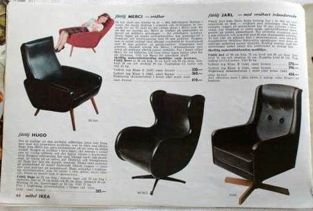 Sillones de Ikea en 1965