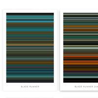 Esta web resume las películas en pósters de colores minimalistas