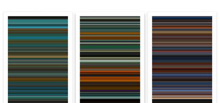 Esta web resume las películas pósters de colores minimalistas