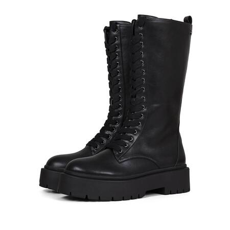 Gioseppo Botas Altas Negras Estilo Militar Con Cierre De Cordones Para Mujer Kitui 1 3261347a9bd44d8 Fashionalia