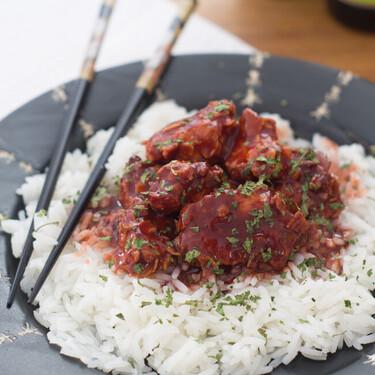 Pollo crujiente al estilo del General Tso, receta china al estilo de USA