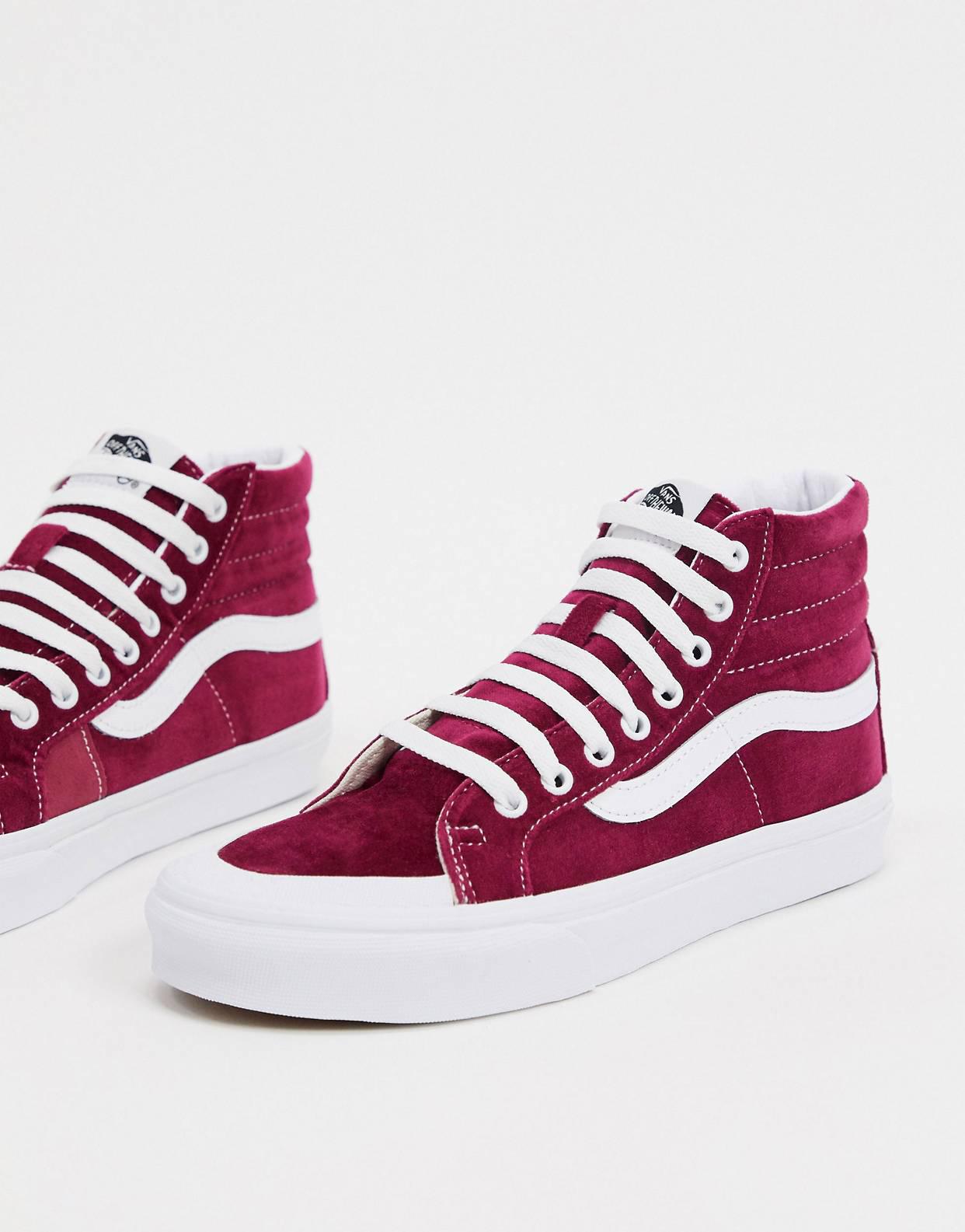 Zapatillas en remolacha roja y blanco puro SK8-Hi Reissue 138 de Vans