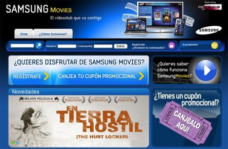 Samsung Movies, plataforma de venta y alquiler multimedia sólo para España