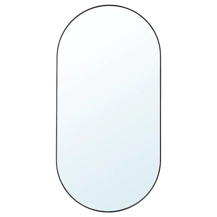 LINDBYN Espejo, negro60x120 cm