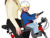 Sillín para pasear en bici con el bebé (y que vea el paisaje)