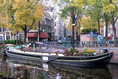 El Museo del barco vivienda en Ámsterdam