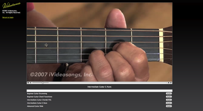 iVideoSongs, aprende a tocar la guitarra por Internet