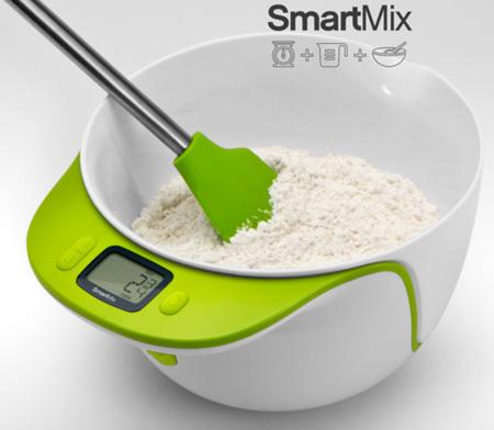 SmartMix: peso, medidor y bowl para remover, tres en uno