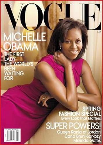 Michelle Obama portada de Vogue USA marzo 2009