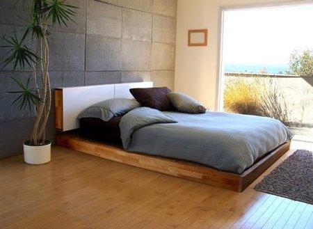 Una cama baja para el dormitorio pros y contras - Base de cama ikea ...