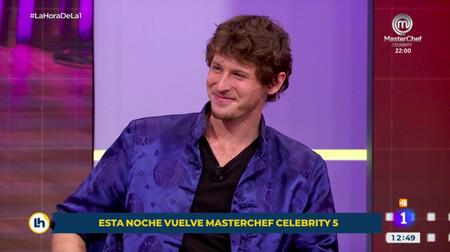 Gonzalo Miró, el chulito de 'MasterChef Celebrity 5', señala a Nicolás Coronado y dice en 'La Hora de la 1' que le hubiera intentado echar