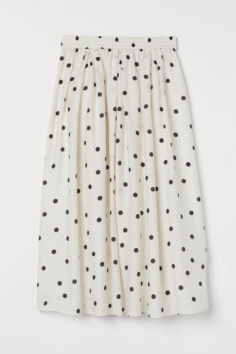 Falda de lunares de largo midi