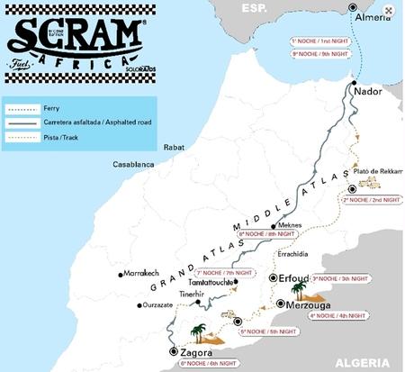 Mapa Scram Africa