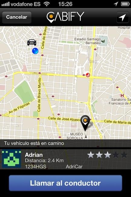 Servicio Cabify: un chófer cuando tú quieras