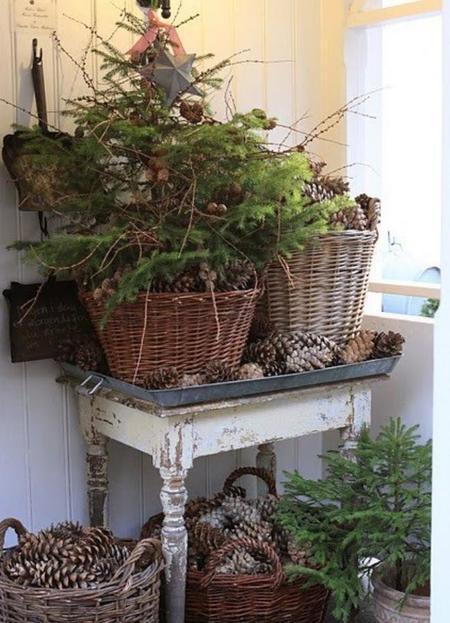 Se acerca la Navidad y te damos algunas ideas de decoración muy naturales