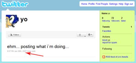 """Usuario de Twitter """"Yo"""", inactivo desde 2007"""